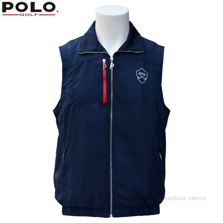 020111 Golf Men Spring winter warm vest Plus thick velvet golf jacket for men waistcoat windbreaker vest breathable apparel