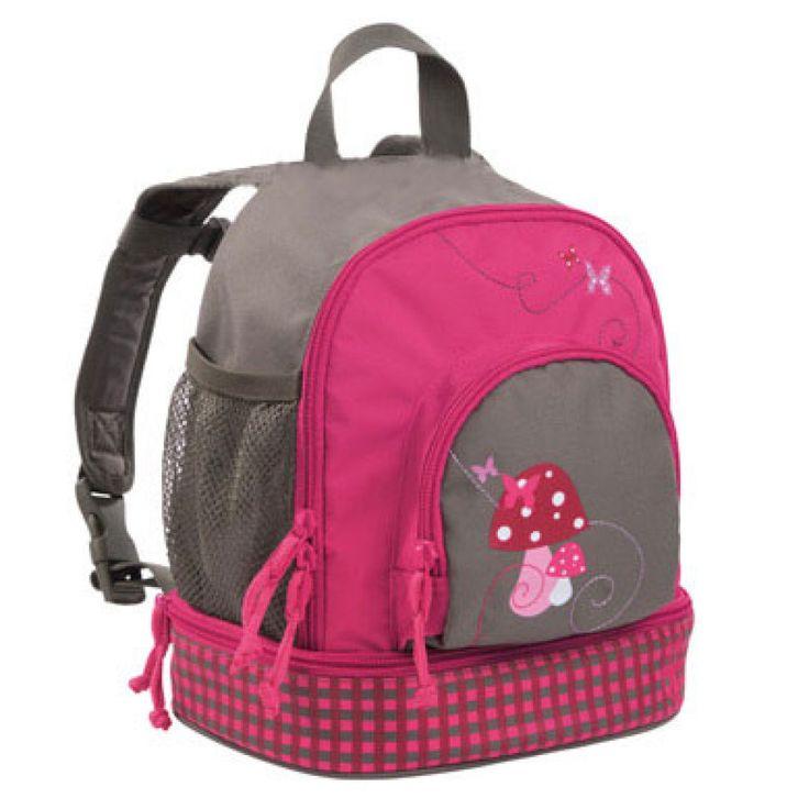 LÄSSIG Mini Rucksack Backpack Mushroom magenta #Lässig #Kinderrucksack #Kindergartentasche #Pilz #magenta #rosa #mädchen