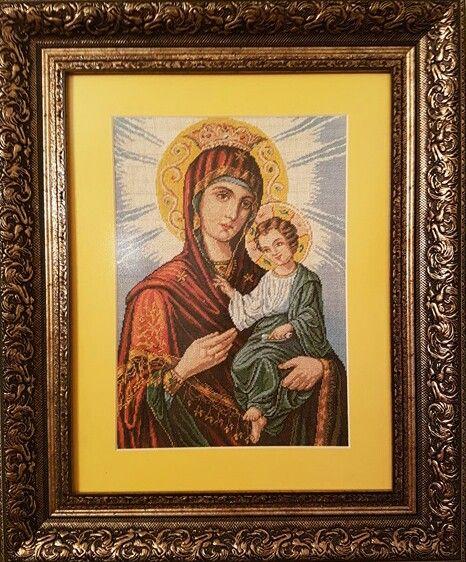Religioase - Dimensiuni goblen cusut 25,5 x 33 cm, ( + Rama, Passepartout, Sticla antireflex ) 1041.5 Euro  Pret: 4.790,90 RON