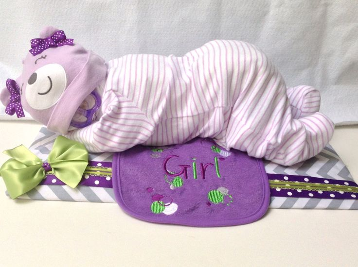 Sleeping Baby Made with Diapers | Request a custom order and have something made just for you.