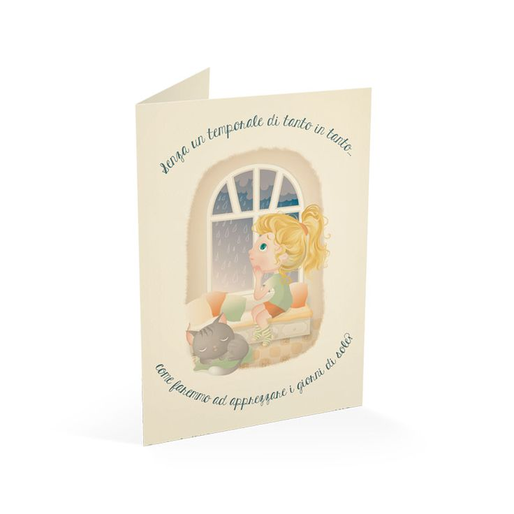 Giorni di pioggia | Sara Michieli - Illustrazioni e grafica pubblicitaria here the full illustration ---> http://saramichieli.com/portfolio-item/giorni-di-pioggia/  #rain #pioggia #quote #citazione #finestra #gatto #goccedipioggia