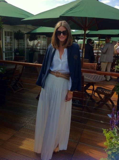 OP Wimbledon: Oliviapalermo, Clothing, Hair Doe, Long Skirts, Palermo Style, Olivia Palermo, Fashion Looks, Wear, Maxi Skirts