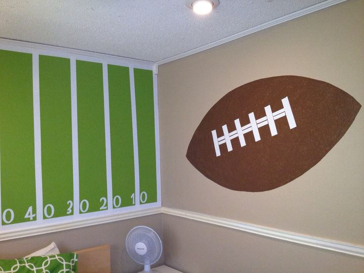 My sons finished football room...