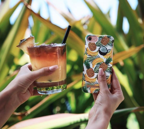 Banana Coconut by lovely @josephineqvist - Fashion case phone cases iphone inspiration iDeal of Sweden #Tropcial #pineapple #palms #leaf #pina colada #yellow #fashion #inspo #iphone
