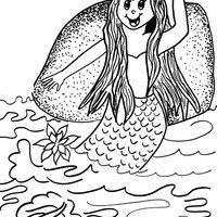 Desenho De Iara Folclore Brasileiro Para Colorir Desenho