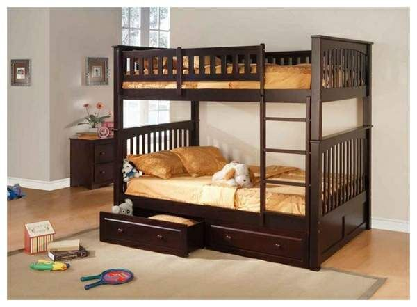 Overawe Full Over Queen Bunk Bed With Trundle And Stairs