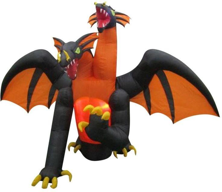 Animated Projection Inflatable-Fire and Ice-2-Headed Dragon Halloween Decor #2HeadedDragon #Dragon #AnimatedDragon #Animated #Projection #Inflatable #FireandIce #Halloween #HalloweenDecor #Decor #AnimatedProjection
