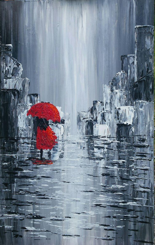 A walk în the rain