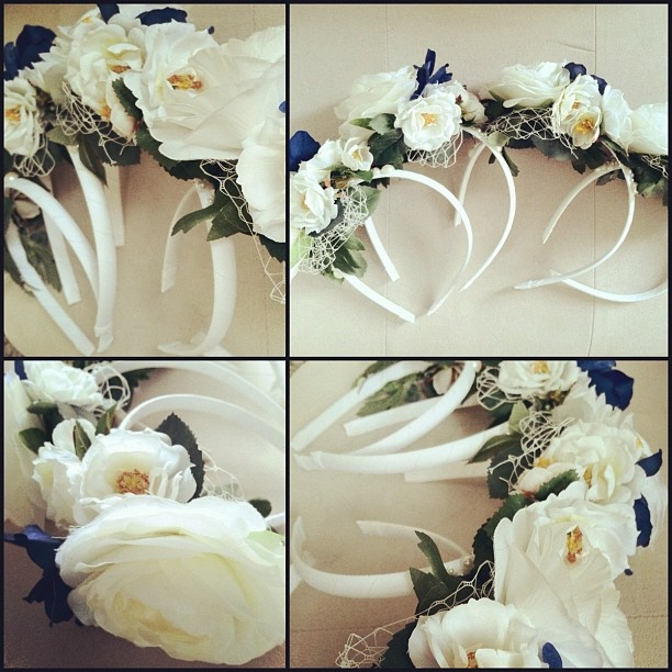 #flowergirls #wedding #headband #custom #custommade #flowers #navy #cream #silkflowers Custom FlowerGirl Headband Order- complete!  http://www.russwholesaleflowers.com/best-silk-wholesale-flowers  Russ Wholesale Flowers offers silk flower arrangements, silk flowers bulk, silk wedding flowers, silk flowers wholesale, silk orchids, silk roses...and more.  In addition we carry a large selection of real touch and natural touch flowers.