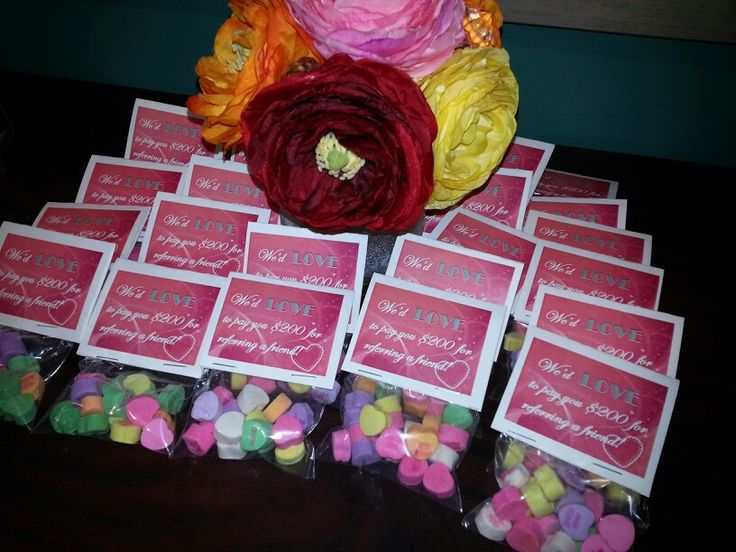 Apartment Resident Referral Gifts We Gave These Out To Our Residents At Valentines Event Marketingmarketing Ideasemployee