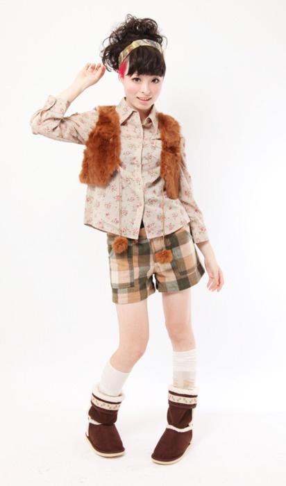mori girl shorts style
