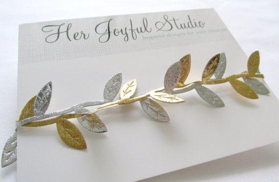 Gold headband, adult and children. Silver and gold headband by HerJoyfulStudio, $8.50