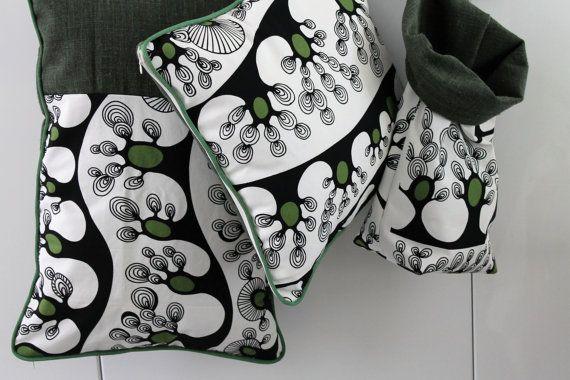 1 kussen dekken / duplex / groene / stof ontwerper Cillia RAMNEK IKEA 2008 / uniek / huwelijk cadeau / COUS150238