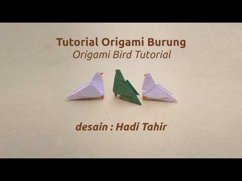 Origami Harri Hadi: Tutorial: Origami Burung/ Bird