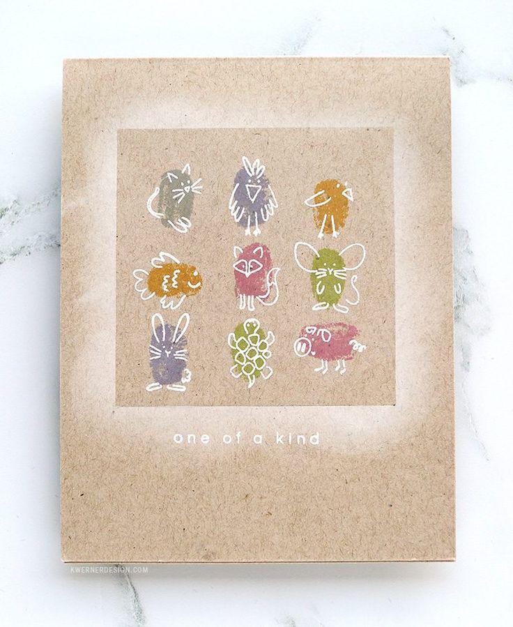 One-Layer Card with Simon Says Stamp Fingerprint Doodles Animals – kwernerdesign blog