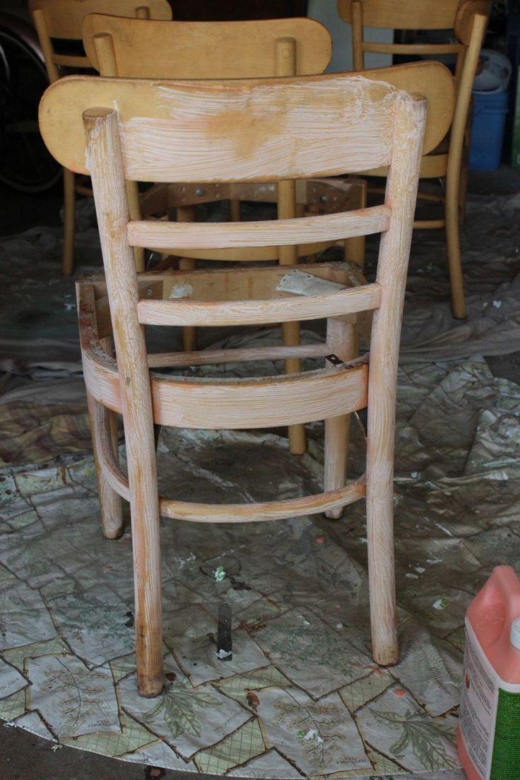 How to Refinish Wooden Dining Chairs  A Step by Step Guide from StartBest 20  Refinished chairs ideas on Pinterest   Spray paint chairs  . Refinish Wood Kitchen Chairs. Home Design Ideas