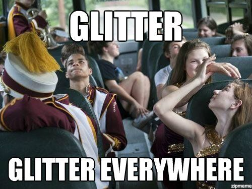 Color guard and their glitter lol