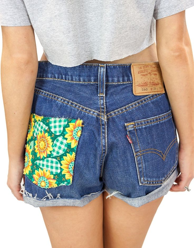 Image of Flower Patch Levi Shorts