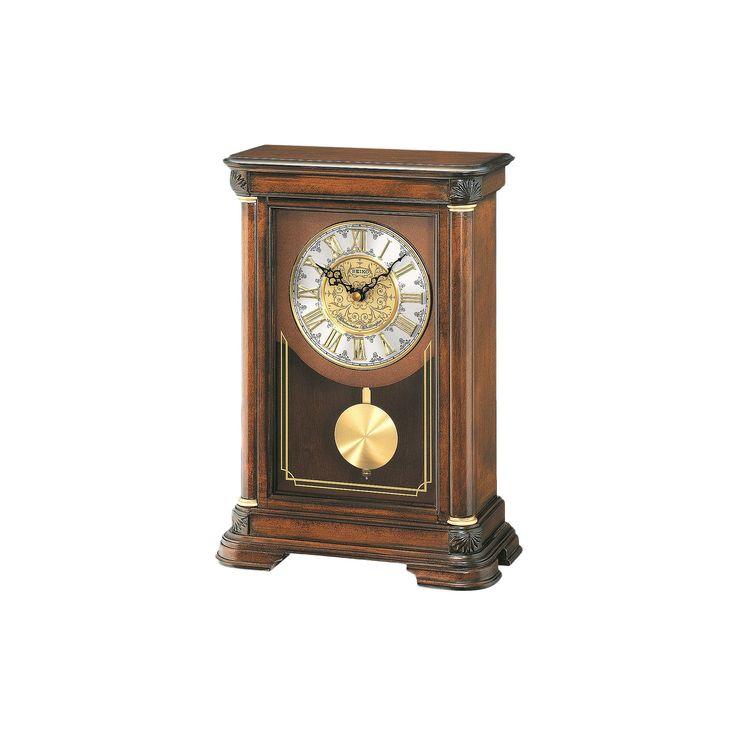 Seiko Alder Mantel Clock - QXQ008BLH, Brown