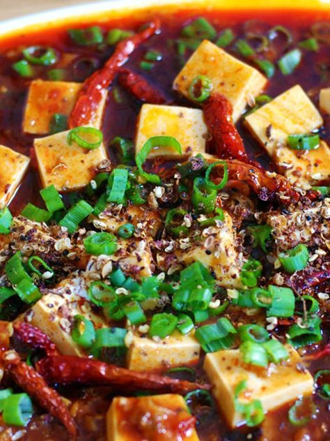 Vegetarian Sichuan Mapo Tofu -- try over noodles :)