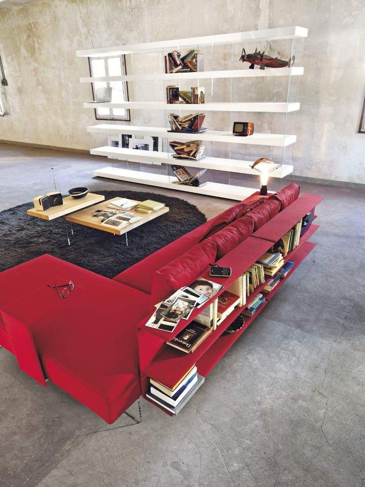 Air Sofa and Air Shelves&Storage #design #living #lagodesign #furniture #sofa #shelf #storage #colour #contrast