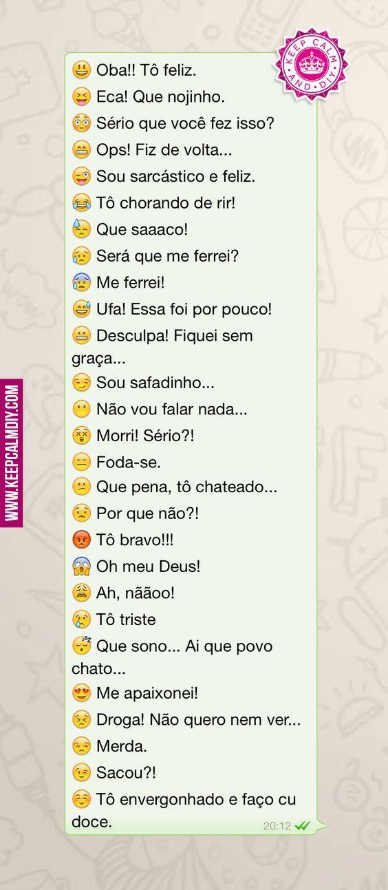 Significado das carinhas do Emoji | java facebook | Carinha