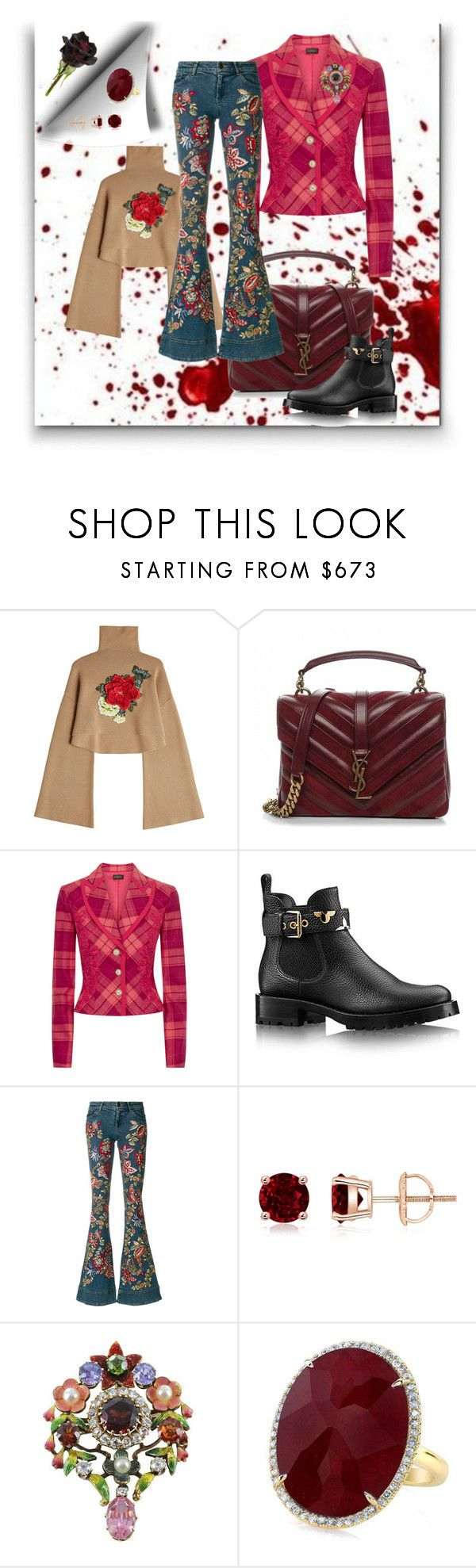 """crazy her"" by georgine-d ❤ liked on Polyvore featuring William Fan, Yves Saint Laurent, La Perla and Alice + Olivia"