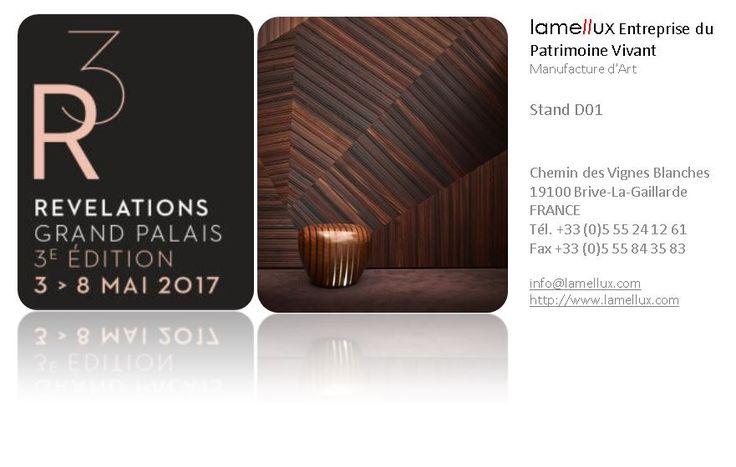 LAMELLUX Retrouvez-nous au Salon Révélations 2017 Stand D01  Du 3 au 8 mai 2017  Billetterie gratuite pour les professionnels :   #lamellux #salon #revelations #paris #grandpalais #lxresin #empreinte #naturbois #nidatub #vibrato #lumine #quertec #albatre #alabaster #luxe #metiersdarts #madeinfrance #ebenisterie #architecture #architecturedinterieur #agencement #craftmanship #luxury #design #interior #interiordesign #woodwork #bespoke