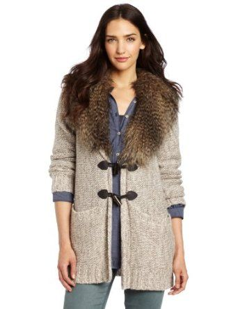 Twelfth St. by Cynthia Vincent Women's Detachable Fur Collar Felicity Jacket, Heather Taupe, Medium Twelfth Street by Cynthia Vincent. $365.00