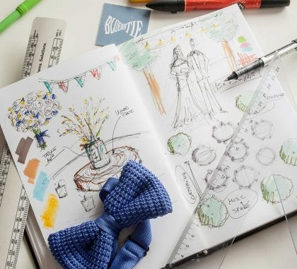 5 top skills that makes an Architect the perfect Wedding Planner  Blue Bow Tie & Wedding Sketches