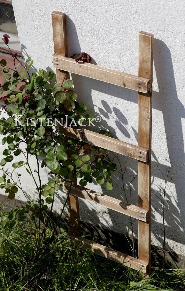 Leiter Holz Deko Garten Rankhilfe braun Landhaus