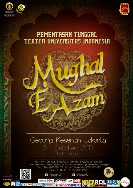 Pementasan Teater UI Mughal E Azam http://bit.ly/16mnKCj