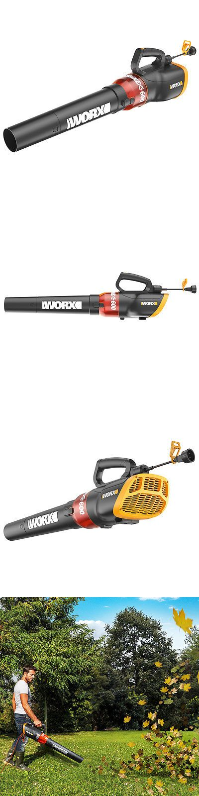 Leaf Blowers and Vacuums 71273: Worx Wg520 120-Volt 12-Amp 600 Cfm Lightweight Turbine Electric Leaf Blower -> BUY IT NOW ONLY: $52.39 on eBay!