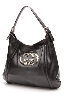 02f87b2702f Gucci Black Leather Medium Britt Hobo Bag