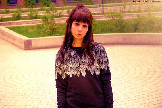 Wings sweatshirt by cityherowear.com #wings #sky #sweatshirt #angel #angelsleeve #wingsshirt