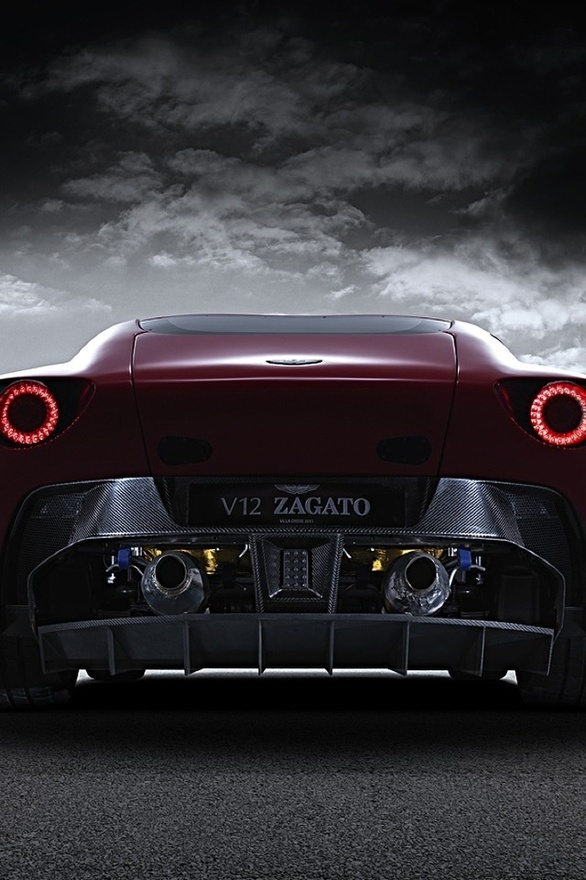 Aston Martin Zagato V12 riding into the storm