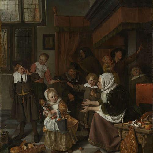 Het Sint-Nicolaasfeest, Jan Havicksz. Steen, 1665 - 1668 - Rijksmuseum