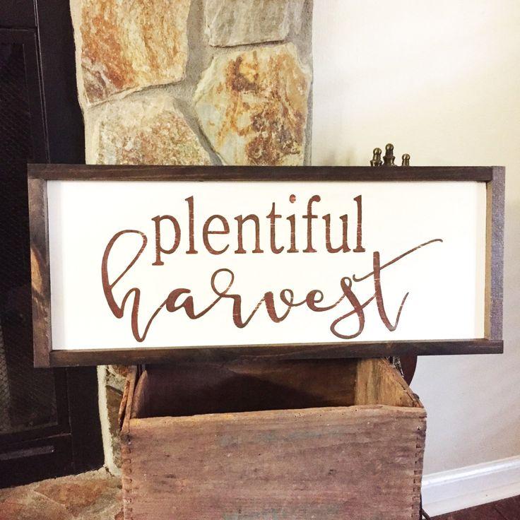 Plentiful harvest wood signs; thanksgiving decor; fall decor