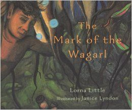 the book the mark of the wagarl was illustrated by Janice Lyndon she was born in Pinjarra, Western Australia. Janice now lives in Perth where she is a busy mother of nine children. Janice has been interested in art from an early age and she participates in several art exhibitions. She gets her inspiration from her elders and environment. This book has creative, beautiful and inspirational illustrations it is a great book. By Tali . R . B