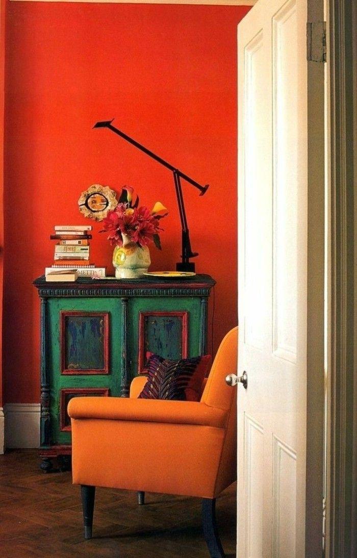 1247 best Farbe - gib deinem Umfeld ein neues Gesicht oder - Wohnzimmer Grau Orange