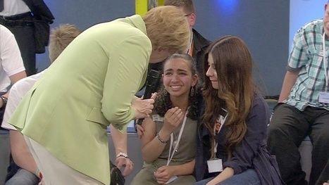 Reem Sahwil: Angela Merkel Criticized over Crying Palestinian Refugee  Read more: http://www.bellenews.com/2015/07/17/world/europe-news/reem-sahwil-angela-merkel-criticized-over-crying-palestinian-refugee/#ixzz3gAlFBMov Follow us: @bellenews on Twitter | bellenewscom on Facebook