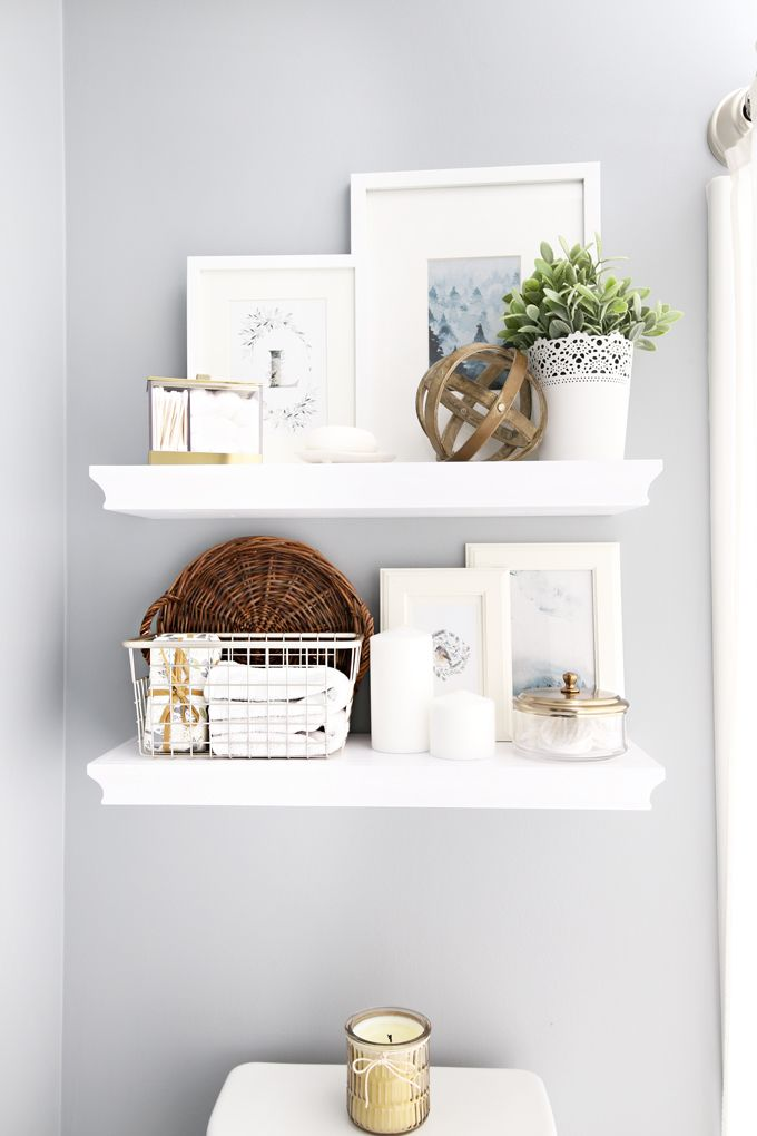 guest bathroom refresh and organization with interdesign bathroom rh pinterest com