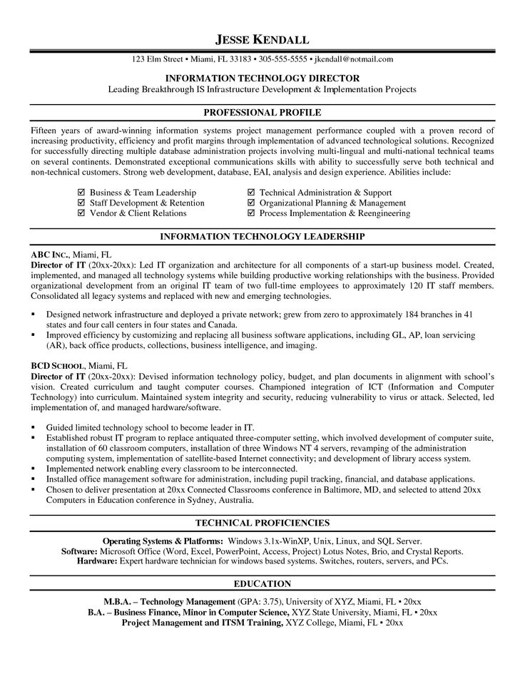 11 best best it manager resume templates  u0026 samples images