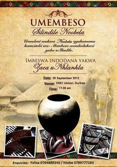 Image result for traditional zulu wedding invite