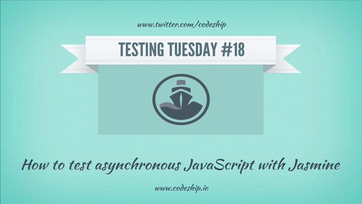 It's Codeship's Testing Tuesday again! Welcome to episode #18: Today we show you how to test asynchronous JavaScript with Jasmine.  Have a look at our blog (blog.codeship.io)…