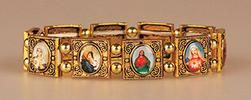 All Saints Gold Faith Bracelet - Elasticated