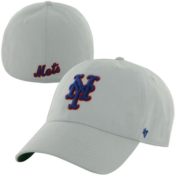 Mens New York Mets '47 Brand White Franchise Fitted Hat, $29.99 http://shareasale.com/m-pr.cfm?merchantid=62865&userid=646297&productid=613303552&afftrack=