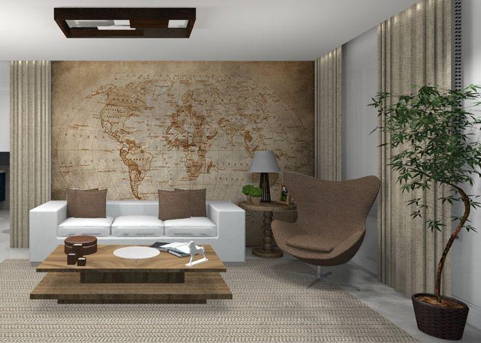 Leandro Selister - Adesivo de Parede – Mapa Decorativo Planisfério Antigo Sépia - http://leandroselister.com.br/loja/adesivos-de-parede/adesivo-de-parede-mapa-planisferio-antigo-sepia/
