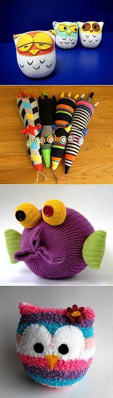 Игрушки из носков | Куклы из носков