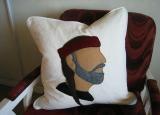 LIVING ROOM: Willie Nelson pillow ...